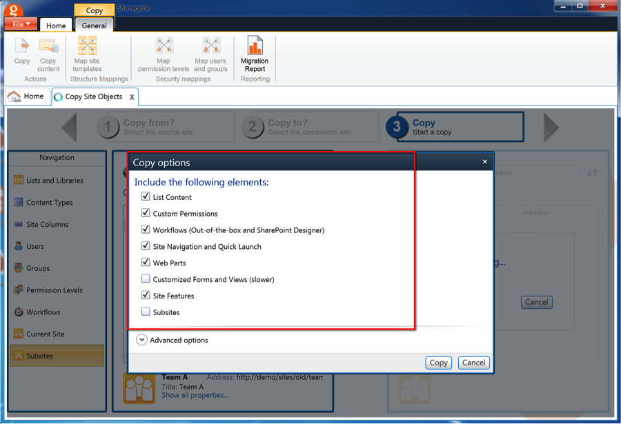 Sharegate Release Migrate SharePoint Sites