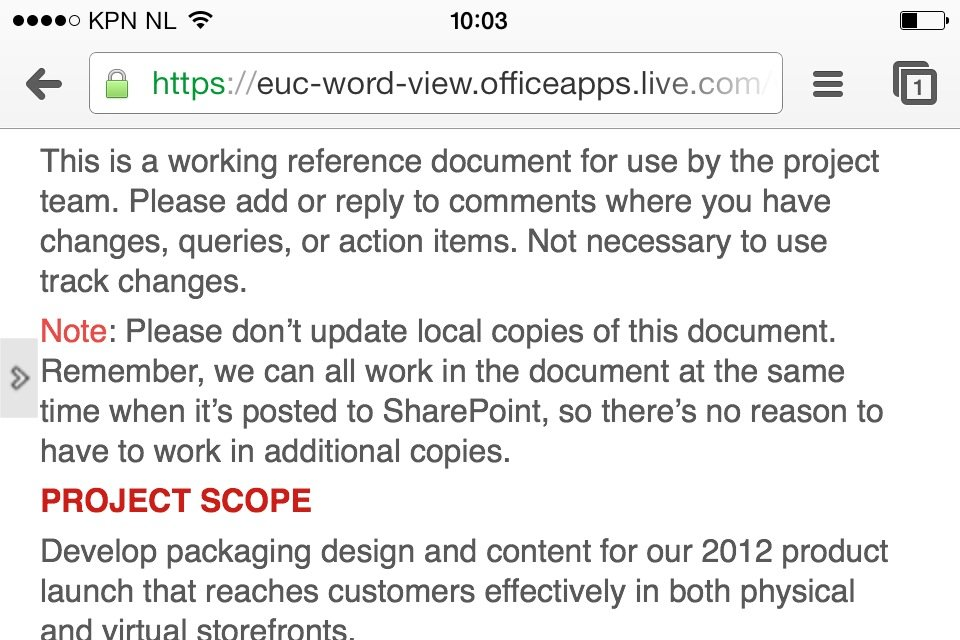 SharePoint Office 365 working with Team Documents on any device