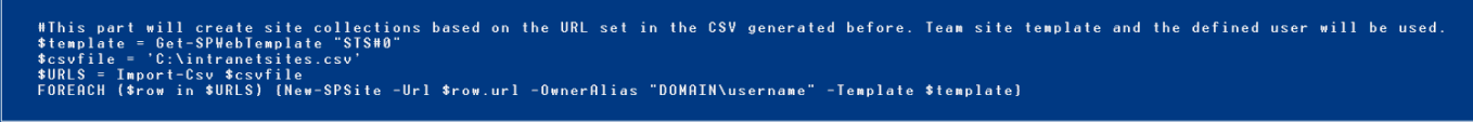 Migrate sharepoint site collections powershell