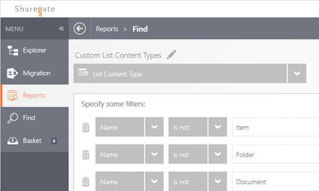 Manage SharePoint Content Types