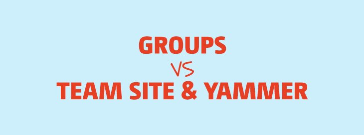 Office 365 Groups VS Teams Sites & Yammer