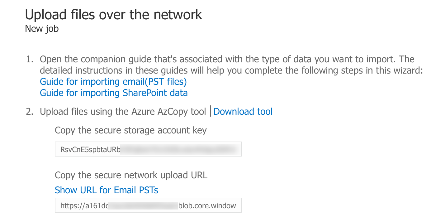 Import data to Office 365 login