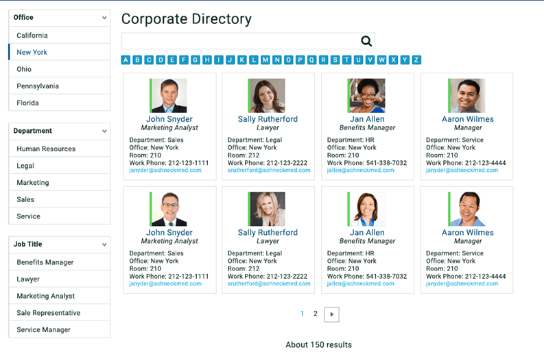 How to Build a Corporate Directory with SharePoint Search