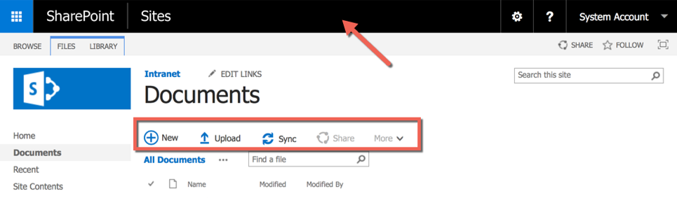 SharePoint 2016 Site Libraries