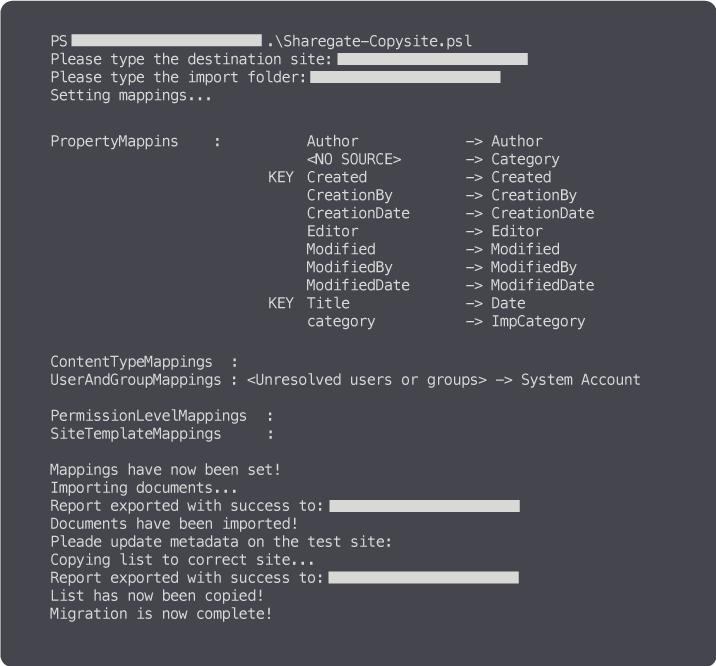 SharePoint migration PowerShell script