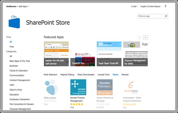 SharePoint 2013 App Store