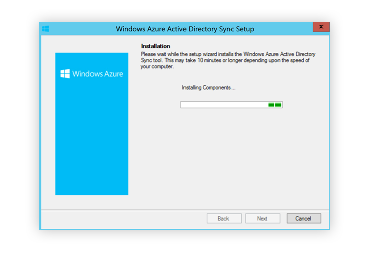 Window Azure Active Directory Sync Installation
