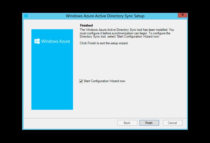 Windows Azure Sync Setup Finished
