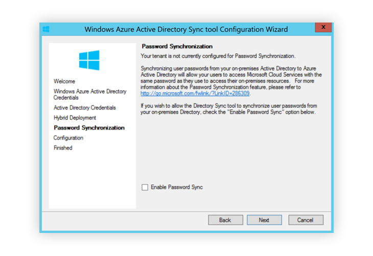 Window Azure Active Directory Sync Password sync