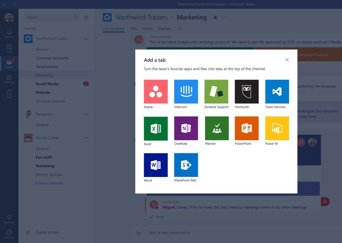 App Integration in Microsoft Teams