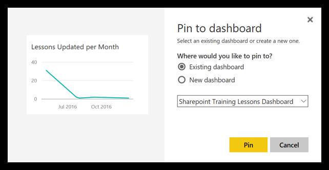 Pin to Dashboard in Power BI