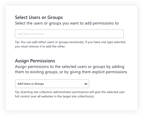 Select users and groups in Sharegate