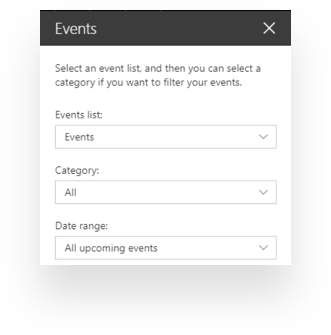 Event web part in Communication sites