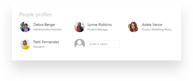 People Profile web part for Communication sites in SharePoint Online