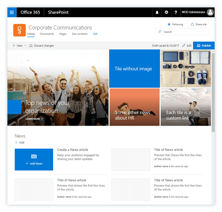 5 ways to manage news in Office 365 - ShareGate