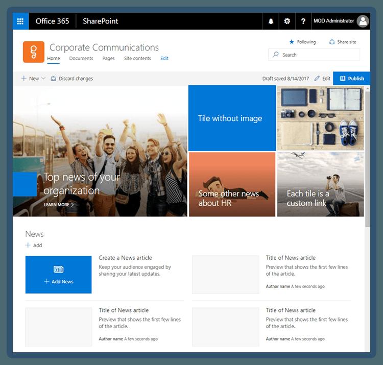 SharePoint New Communication Sites