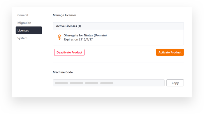Deactivate Sharegate License