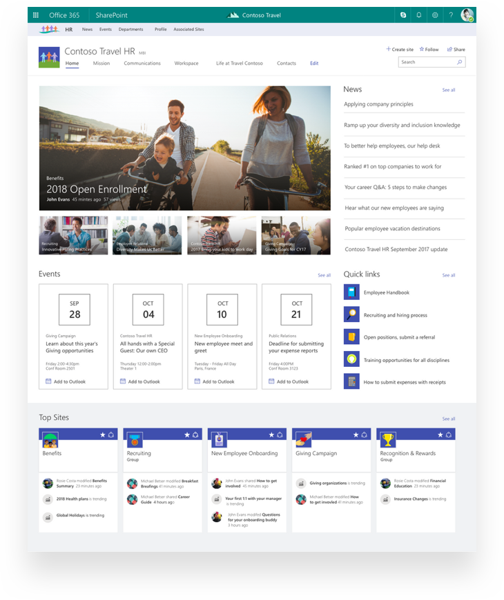 New SharePoint Hub Site