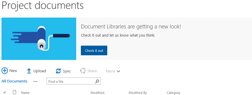 try out new experiences on sharepoint