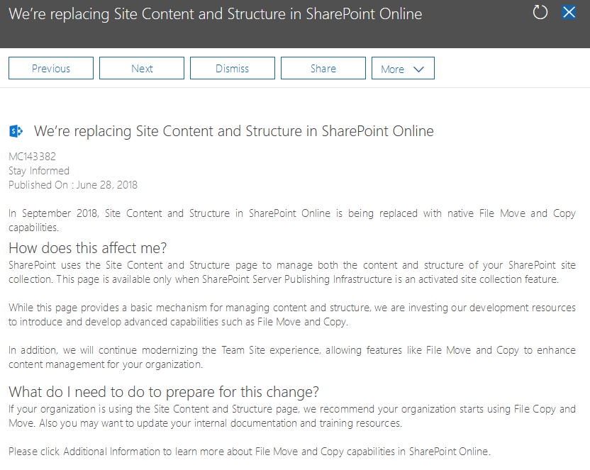 Replacing Site Content Structure in SharePoint Online