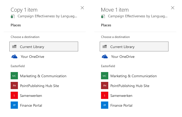 The new Copy & Move Experience on SharePoint
