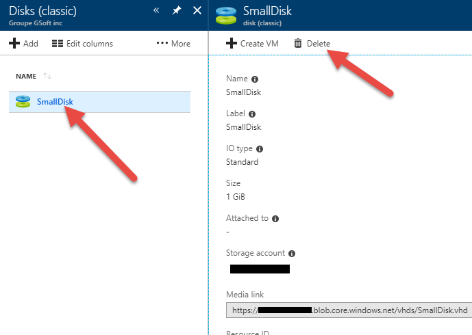 Azure cost guide erasing classic disks