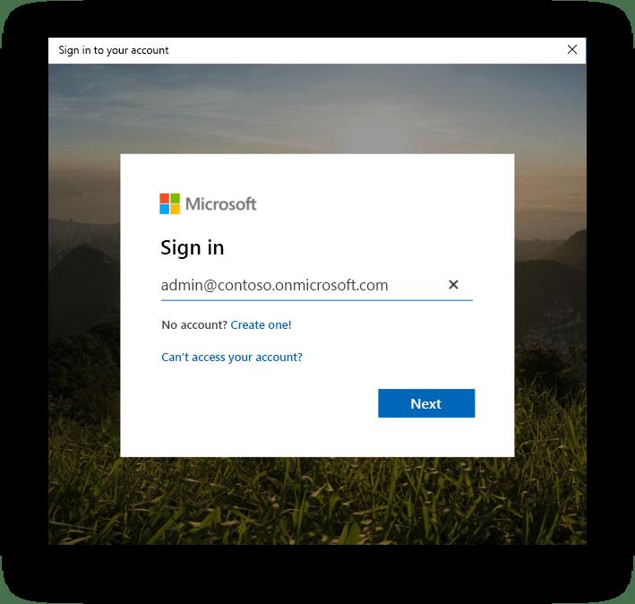 Microsoft SPMT Sign-in