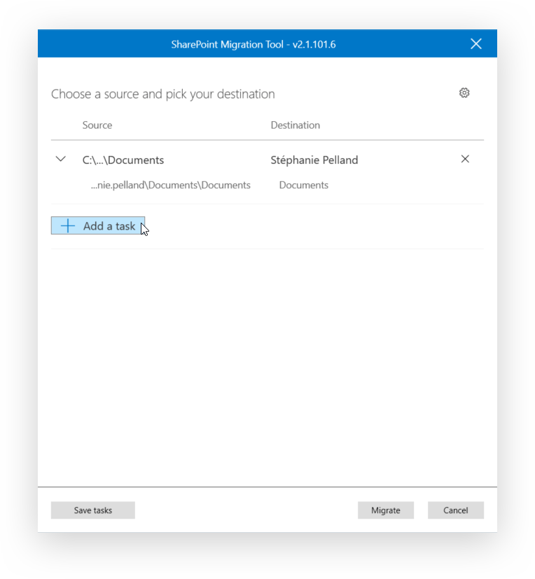Microsoft SPMT set other migrations