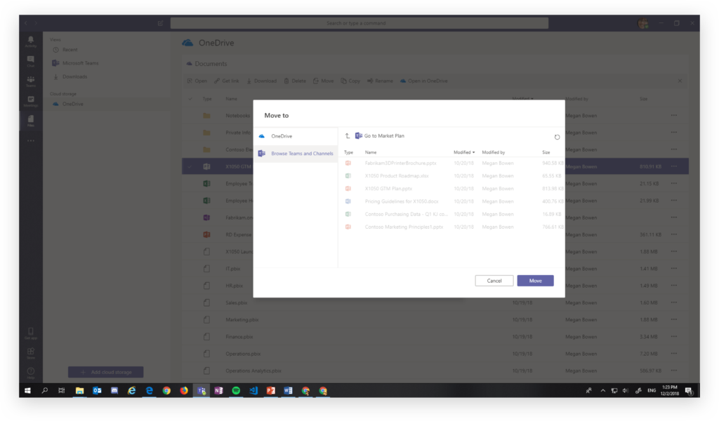 Sharing a file in Microsoft Teams without creating a duplicate