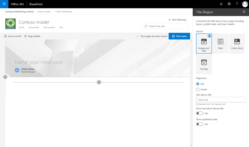 Keep your team in the loop with modern SharePoint news