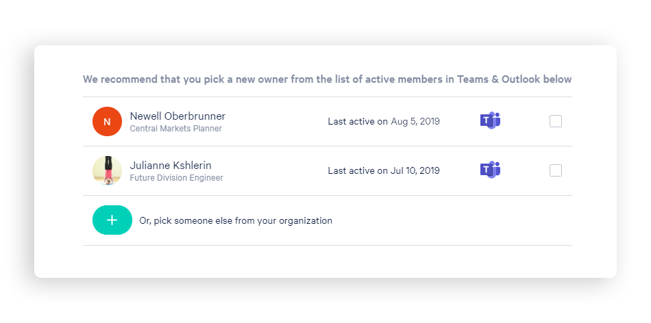 See a list of recommended members to promote