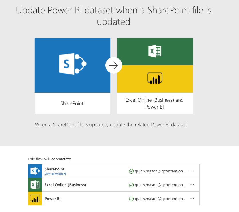 Update Power Bi dataset template.