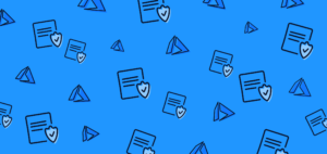 Image of blue background with Azure logo and documents