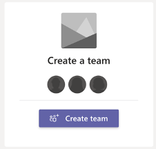 Button for create a team