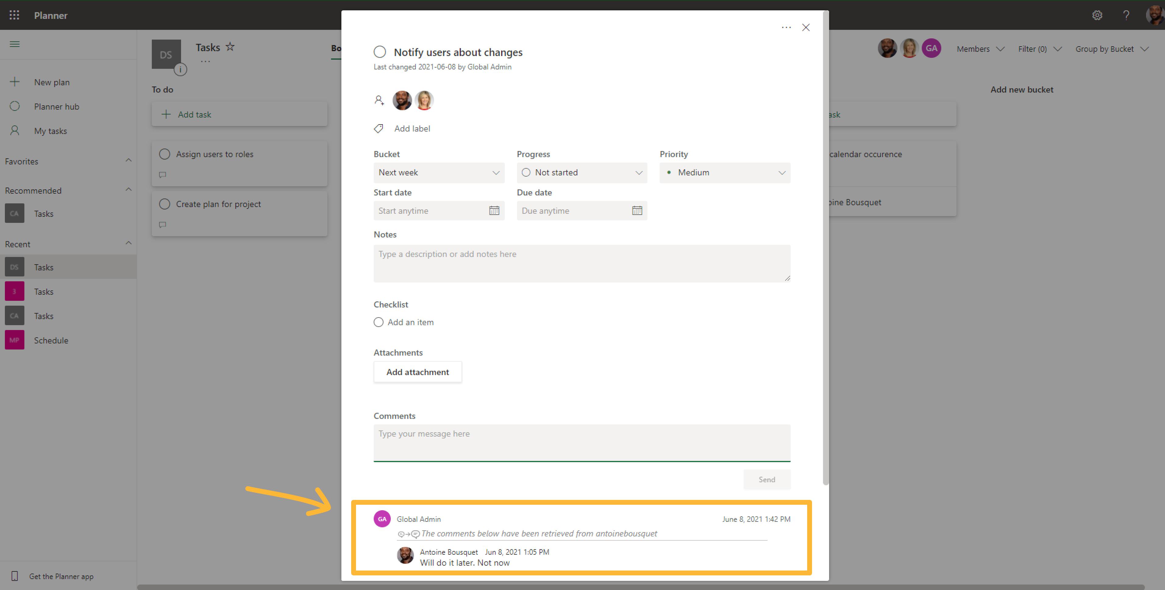 Planner migration with ShareGate Desktop