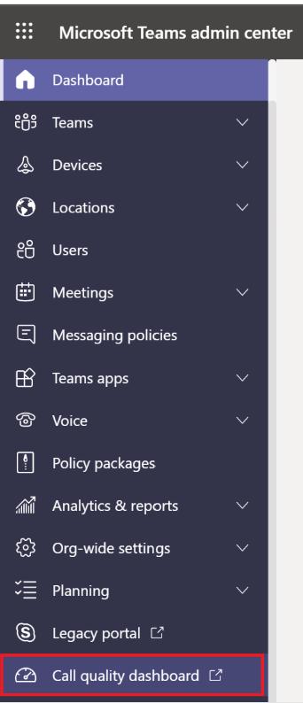 Call Quality Dashboard In Microsoft Teams 1