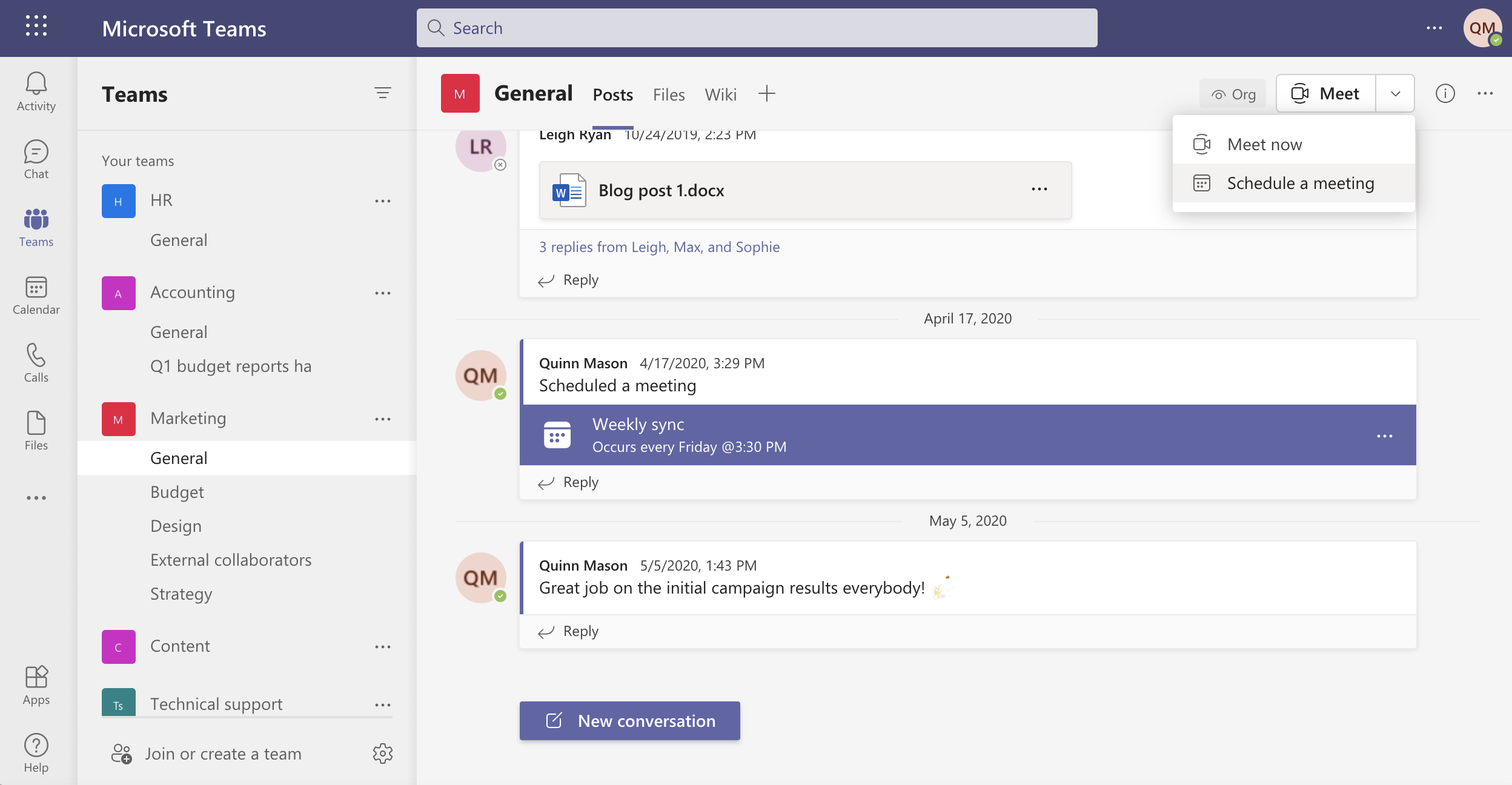 Schedule A Meeting In A Channel In Microsoft Teams
